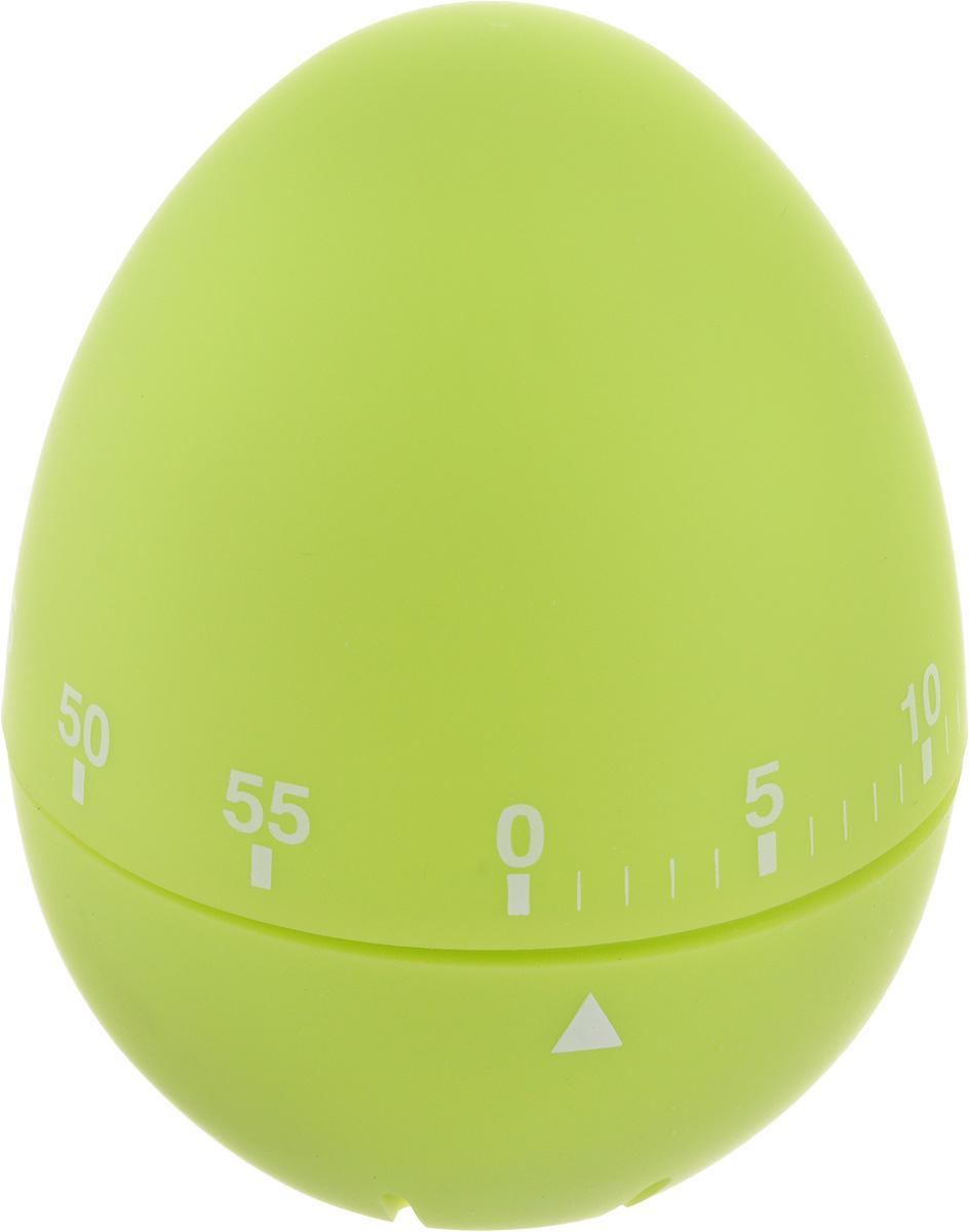 Таймер кухонный Zeller Яйцо, на 60 мин, цвет: салатовый27247Кухонный таймер Zeller Яйцо изготовлен из пластика и металла. Таймер выполнен в виде куриного яйца. Максимальное время, на которое вы можете поставить таймер, составляет 60 минут. После того, как время истечет, таймер громко зазвенит. Оригинальный дизайн таймера украсит интерьер любой современной кухни, и теперь вы сможете без труда вскипятить молоко, отварить пельмени или вовремя вынуть из духовки аппетитный пирог.