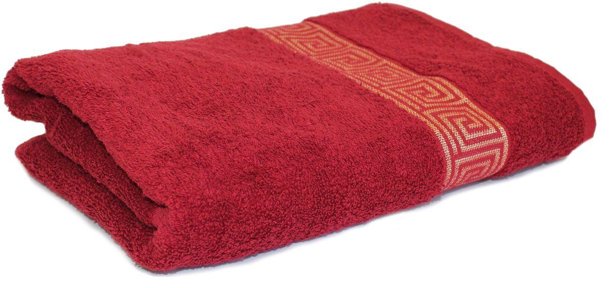 Полотенце Proffi Home Классик, цвет: бордовый, 70x140 смPH3286Состав: 100% хлопок.