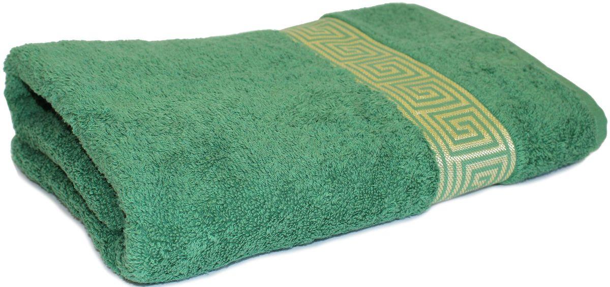 Полотенце Proffi Home Классик, цвет: зеленый, 70x140 смPH3287Состав: 100% хлопок.