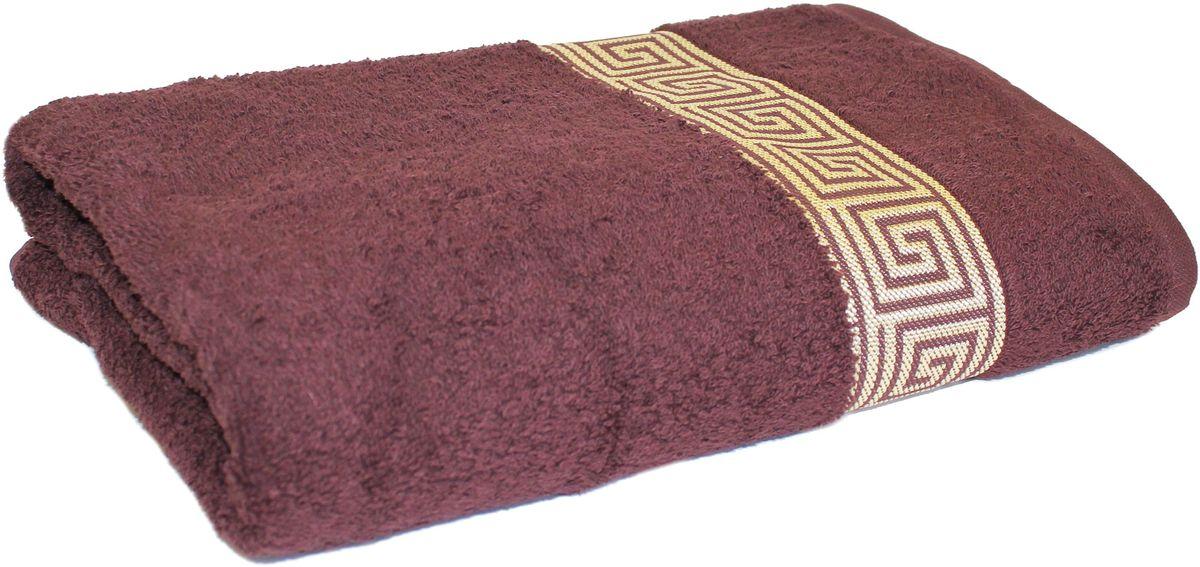 Полотенце Proffi Home Классик, цвет: шоколадный, 70x140 смPH3288Состав: 100% хлопок.