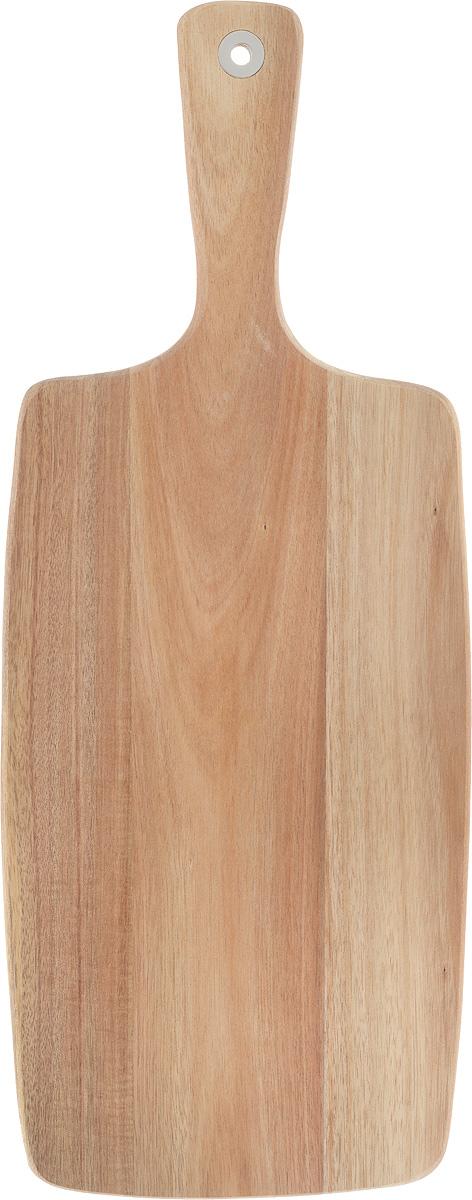 Доска разделочная Zeller, с ручкой, 52 х 20,5 х 1,2 см25552Разделочная доска Zeller выполнена из акации. Акация считается самым твердым деревом. Поэтому изделие являются прочным и долговечным, не боится воды и не впитывает запахи. Доска оснащена ручкой для более удобного использования. Функциональная и простая в использовании, разделочная доска Zeller прекрасно впишется в интерьер любой кухни и прослужит вам долгие годы. Не рекомендуется мыть в посудомоечной машине. Размер доски: 52 х 20,5 см. Толщина доски: 1,2 см.