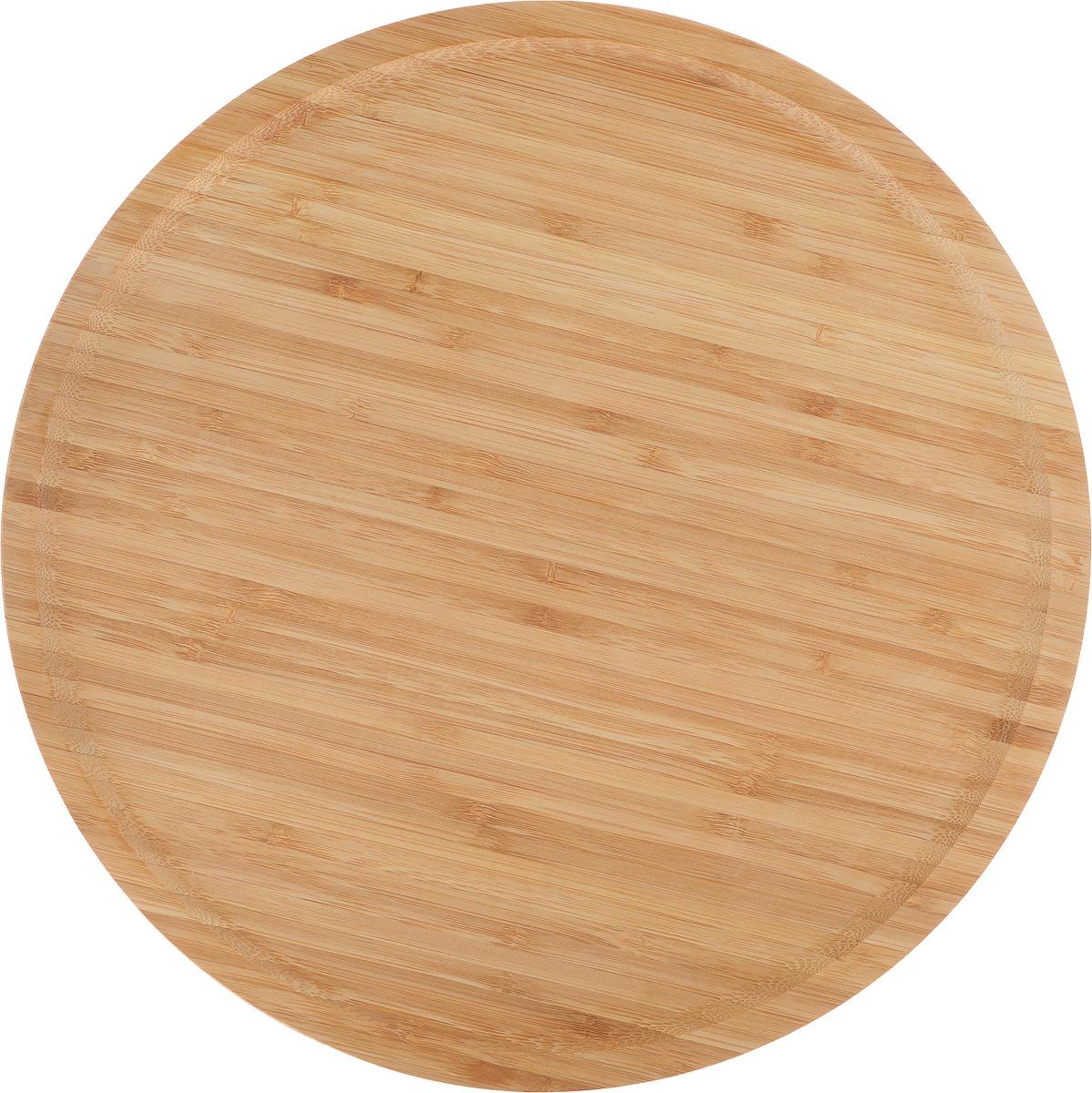 Доска для пиццы Kesper, диаметр 32 см. 5846-35846-3Доска для пиццы Kesper изготовлена из каучукового твердого дерева. Бортик позволяет пицце не соскальзывать с поверхности. Удобна в употреблении.Подходит как для домашнего использования, так и для профессиональных точек общепита. Такая доска станет отличным приобретением для вашей кухни. Диаметр доски: 32 см.