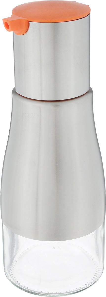 Емкость для масла VANI, 230 млV9050Емкость для масла VANI, изготовленная из стекла с обрамлением из нержавеющей стали, будет полезна для каждой хозяйки. Она легка в использовании, стоит только перевернуть ее, и вы с легкостью сможете добавить оливковое, подсолнечное масло, уксус или соус. Крышка плотно прилегает к емкости и не позволит жидкости вытечь. Удобный дозатор поможет аккуратно перелить масло или любую другую жидкость из емкости. Диаметр по верхнему краю: 3,3 см. Высота емкости (без учета крышки): 15 см. Высота емкости с учетом крышки: 19,2 см.