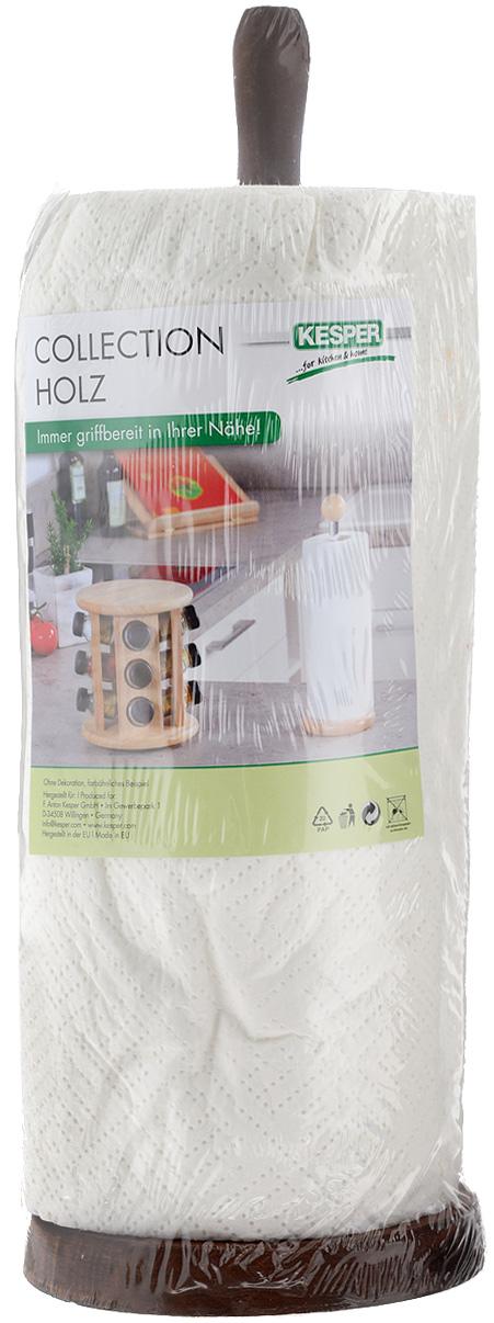 Стойка для бумажных полотенец Kesper, цвет: коричневый, высота 32,5 см1200-3Стойка для бумажных полотенец Kesper изготовлена из натурального дерева. Состоит из круглого основания и стержня, на который устанавливается рулон с бумажными полотенцами. Стойка очень удобна в использовании. Оригинальный держатель стильно украсит интерьер кухни и станет аксессуаром, который будет обращать на себя внимание. Рулон бумажных полотенец входит в комплект. Высота стойки: 32,5 см. Диаметр стойки: 11,5 см.