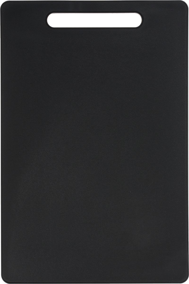 Доска разделочная Kesper, 37 х 25 х 0,8 см3056-9Доска разделочная Kesper выполнена из качественного пищевого пластика. Прочная структура пластика устойчива к механическим повреждениям, высоким температурам и износу. Доска легко моется, не впитывает запахи и влагу, не растрескивается. Изделие снабжено удобной ручкой. Прекрасно подходит для нарезки любых продуктов. Такая доска понравится любой хозяйке и будет отличным помощником на кухне. Можно мыть в посудомоечной машине.