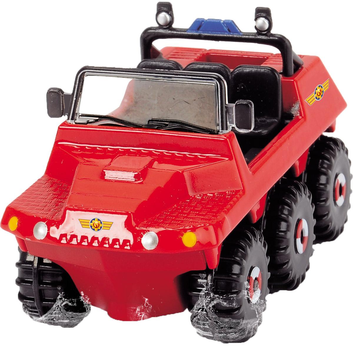 Dickie Toys Пожарная машинка Hydrus3093000_красныйМиниатюрная пожарная машинка Dickie Toys Hydrus выполнена в реалистичном стиле. Это не просто пожарная машина, а настоящий вездеход! 6 колес машины свободно крутятся и проедут по любому бездорожью. Кабина оснащена креслом водителя и тремя креслами для пассажиров. Машинка изготовлена из прочного яркого металла с элементами из пластика. Ваш ребенок сможет часами играть с пожарной машиной, придумывая разные истории. Пополните коллекцию моделей пожарной техники другими игрушками из серии Пожарный Сэм и организуйте собственную пожарную станцию!