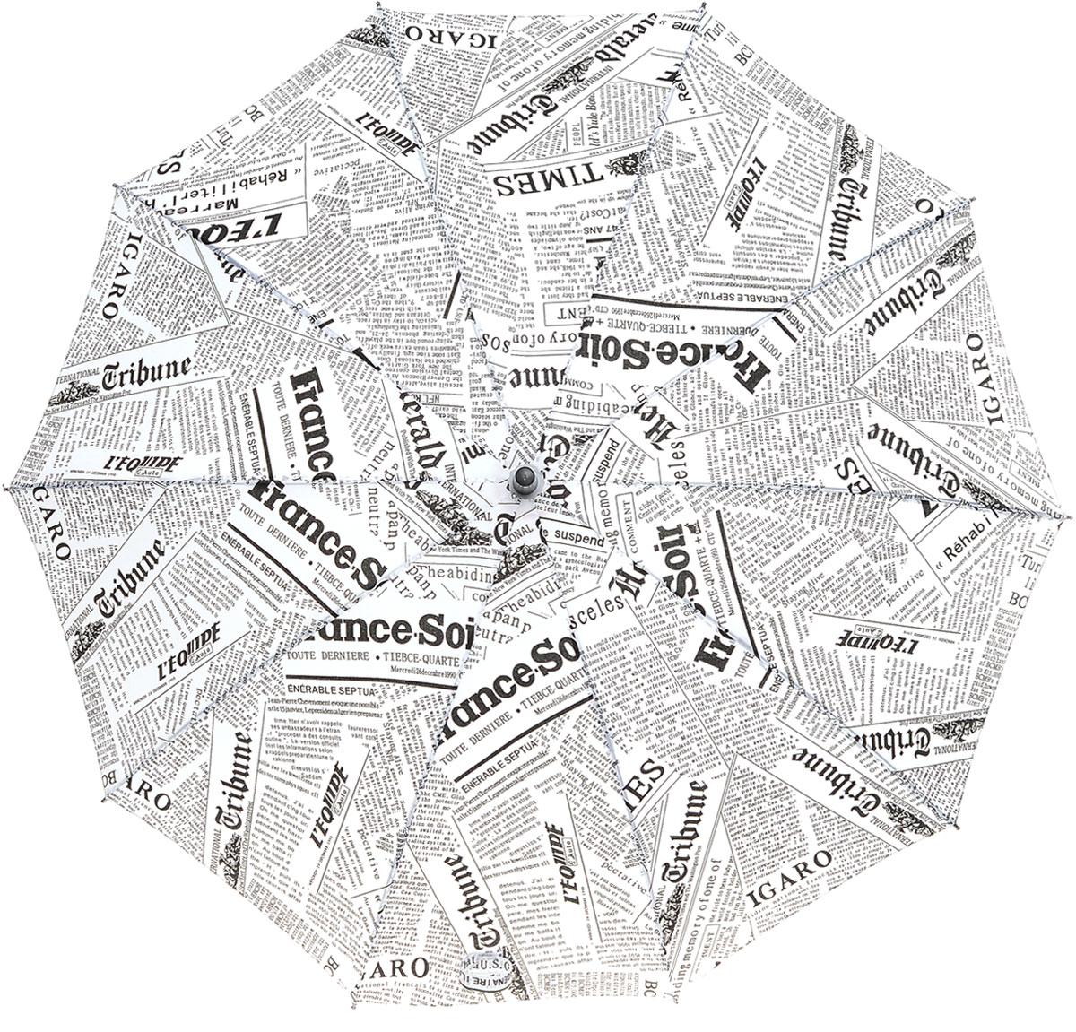 Зонт Эврика, цвет: белый. 9616396163Большой полуавтоматический зонт-трость – это стильный аксессуар, подходящий как дамам, так и джентльменам. Качественный материал купола с влагоотталкивающей пропиткой спасёт от ливня, а крепкие спицы не поддадутся упрямому ветру. Купол зонта выполнен из нейлона, стержень из металла, а ручка из пластика Упаковка: Слюдяной пакет
