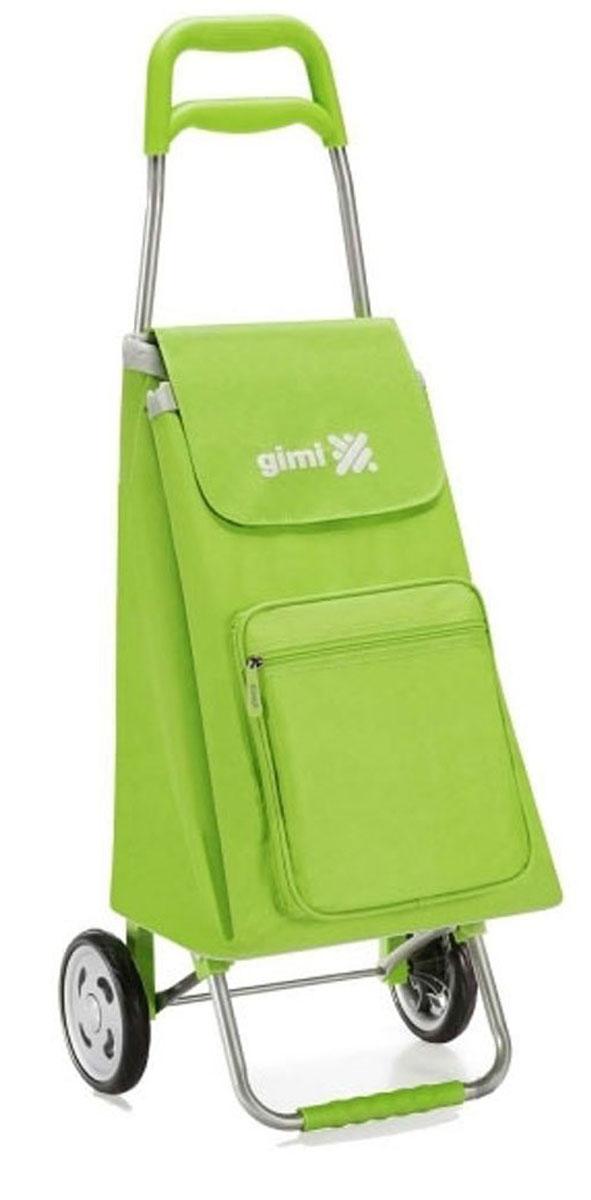 Сумка-тележка Gimi Argo, цвет: зеленый. 15515500700001551550070000Хозяйственная сумка-тележка из полиэстера со стальным каркасом. Сумка водоустойчивая, закрывается на кулиску, оснащена карманом на молнии.
