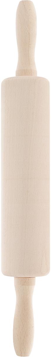 Скалка Kesper, длина 42 см6937-6Скалка Kesper изготовлена из высококачественного дерева. Изделие оснащено двумя удобными ручками. Такая скалка поможет с легкостью готовить ваши любимые блюда. Длина скалки: 42 см. Длина валика: 23 см. Диаметр валика: 6 см.