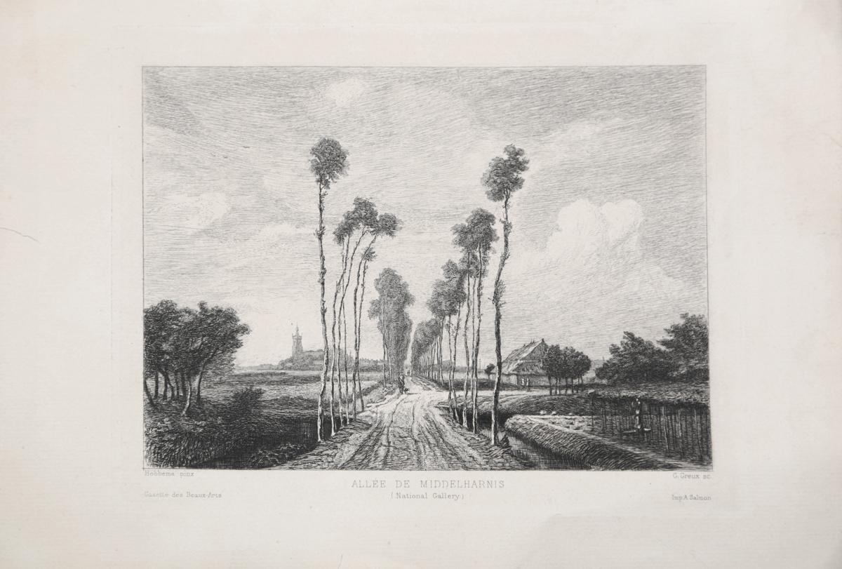 Аллея в Мидделхарнисе. Гравюра. Франция, вторая половина XIX века