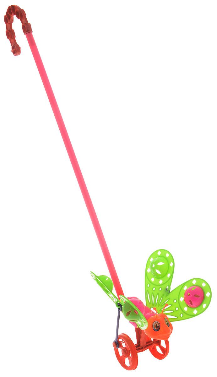 Ami&Co Игрушка-каталка Бабочка цвет зеленый розовый оранжевый