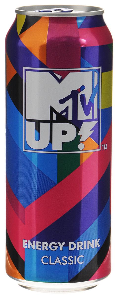 MTV UP! Classic напиток энергетический газированный, 500 мл0034700005890Энергетический напиток MTV UP! Classic содержит натуральный кофеин, L-карнитин, экстракт семян гуараны и экстракт женьшеня. А также витамины: C, B6, B12. Тонизирующий напиток не содержит консервантов. ГОСТ Р 52844-2007. Уважаемые клиенты! Обращаем ваше внимание, что полный перечень состава продукта представлен на дополнительном изображении.