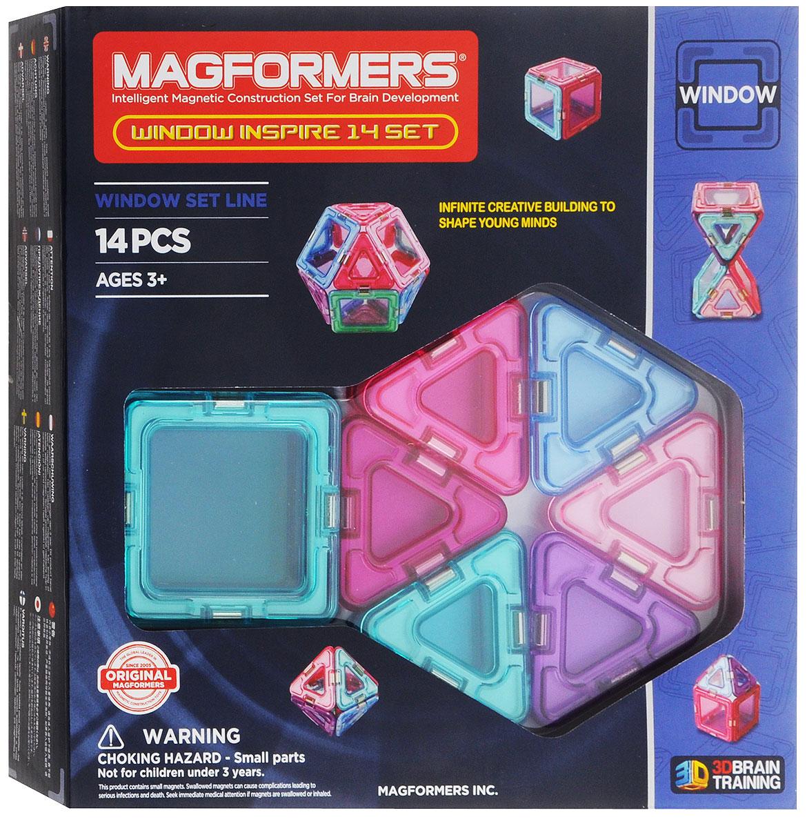 Magformers Магнитный конструктор Window Inspire Set 14714003Магнитный конструктор Magformers Window Inspire Set 14 - это специальное издание набора Magformers Window 14 в мягких пастельных цветах. Нежные оттенки розового, фиолетового и голубого особенно придутся по душе девочкам. Набор Window Inspire Set 14 прекрасно подойдет тем, кто только начинает знакомство с магнитными конструкторами Магформерс. В его состав входят 14 элементов: 6 квадратов и 8 треугольников. С этими базовыми деталями ребенок быстро освоит построение предметов на плоскости, а затем с легкостью перейдет к конструированию трехмерных моделей. Каждая деталь содержит окошко из цветного прозрачного пластика, что открывает новые возможности для творчества. Все элементы Magformers Window Inspire Set 14 также совместимы с любыми другими наборами Магформерс, что позволяет пополнить уже имеющуюся коллекцию новыми необычными цветами и расширить варианты возможных построек. Конструкторы Магформерс - это неиссякаемый источник веселья и творчества! Множество...