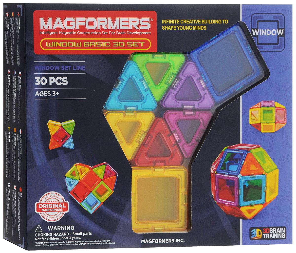 Magformers Магнитный конструктор Window Basic Set 30714002Магнитный конструктор Magformers Window Basic Set - представитель новой серии Window, в которую также входят Window Basic Set 14 и Window Inspire Set 14. Особенностью этой серии являются магнитные детали со сплошным центром, из которых можно собрать непрозрачные модели. В набор входит 30 элементов в форме квадратов и треугольников, с помощью которых можно легко создавать разнообразные объемные предметы. В комплекте представлена иллюстрированная книжка-инструкция, которая наглядно демонстрирует принципы построения моделей из магнитного конструктора Магформерс. Каждая деталь содержит окошко из цветного прозрачного пластика, что открывает новые возможности для творчества. Теперь у сконструированных машин появятся лобовые стекла, а окна небоскребов будут выглядеть как настоящие! Все элементы Magformers Window Basic Set также совместимы с любыми другими наборами Магформерс, что позволяет пополнить уже имеющуюся коллекцию новыми необычными цветами и расширить варианты...