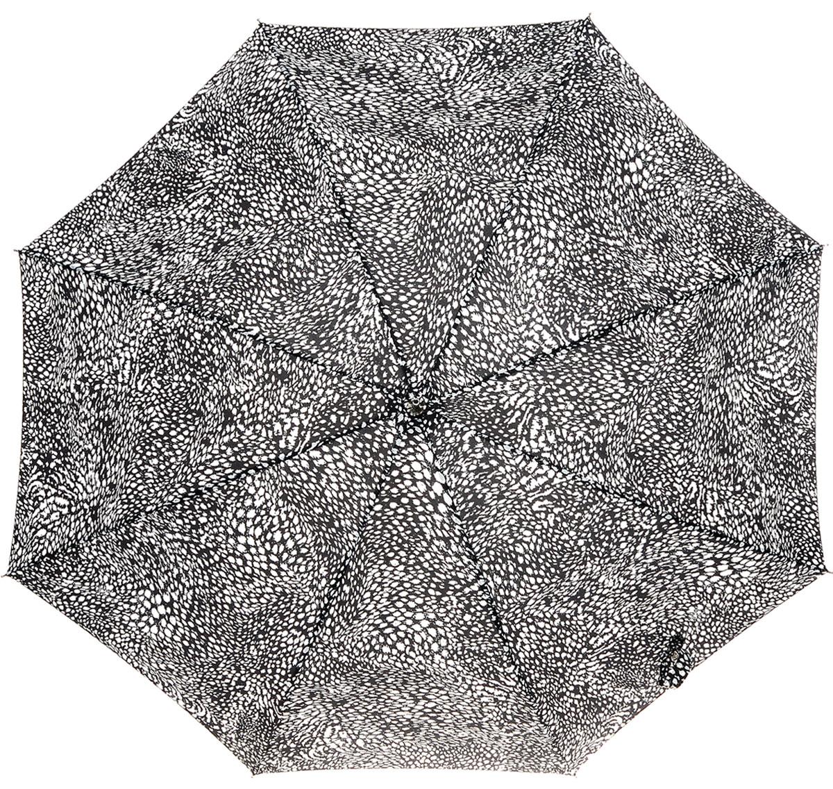 Зонт-трость женский Fulton Eliza, механический, цвет: черный, белый. L600-2632L600-2632 FeatherSwirlМодный механический зонт-трость Fulton Eliza даже в ненастную погоду позволит вам оставаться стильной и элегантной. Каркас зонта включает 8 спиц из фибергласса. Стержень изготовлен из стали. Купол зонта выполнен из прочного полиэстера и оформлен принтом в виде мелких пятнышек. Изделие дополнено удобной рукояткой из пластика. Зонт механического сложения: купол открывается и закрывается вручную до характерного щелчка. Модель застегивается с помощью хлястика на кнопку. Такой зонт не только надежно защитит вас от дождя, но и станет стильным аксессуаром, который идеально подчеркнет ваш неповторимый образ.