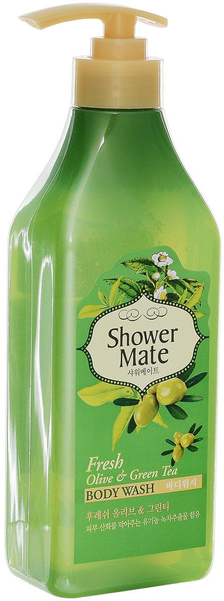 Shower Mate Гель для душа Оливки и зеленый чай, 550 г876756Богатый полезными веществами, экстракт оливы увлажняет и создает защитный слой для кожи. Катехины зеленого чая предотвращают преждевременное старение кожи, способствуют ее омоложению. Свежий аромат оливы и бодрящий аромат зеленого чая дарят ощущение прохлады и чистоты. Характеристики: Вес: 550 г. Артикул: 876756. Производитель: Корея. Товар сертифицирован.