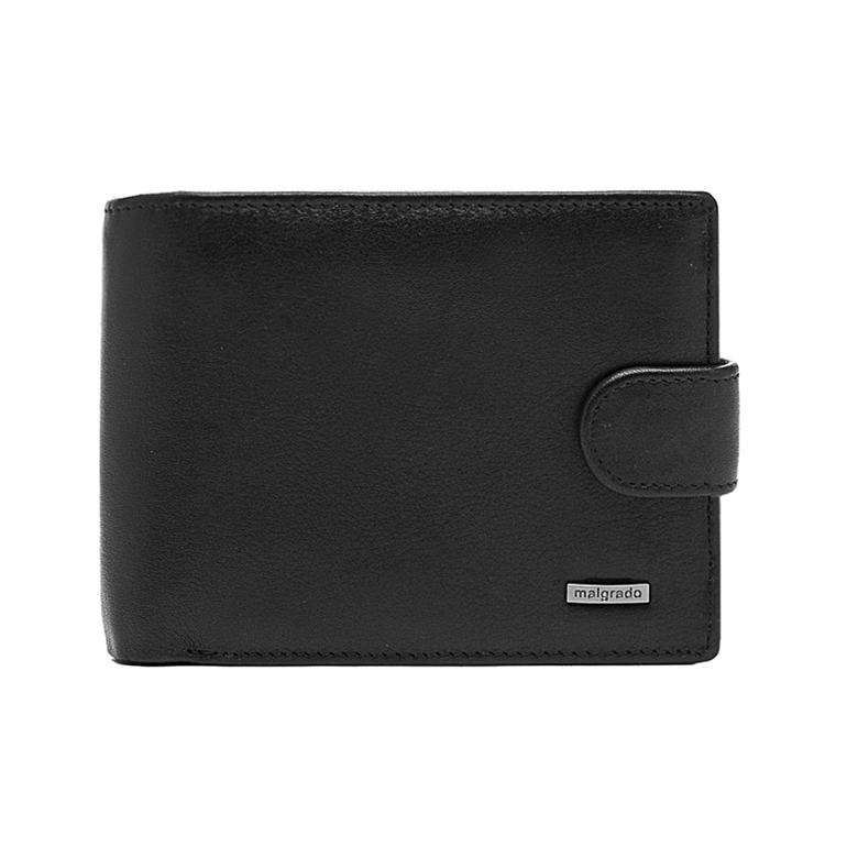 Портмоне Malgrado, цвет: черный. 35027-3-55D35027-3-55DУниверсальное портмоне Malgrado изготовлено из натуральной кожи черного цвета. Внутри содержит три отделения для купюр, одно из которых на молнии, семь дополнительных кармашков для кредитных карт и мелочей, кармашек для мелочи на кнопке, потайной кармашек на молнии, три пластиковых кармашка для проездного, пропуска или фотографии. Закрывается портмоне хлястиком на кнопке. Благодаря насыщенному черному цвету и лаконичному дизайну, такое портмоне подойдет любителям классических аксессуаров. Характеристики: Материал: натуральная кожа, пластик. Размер портмоне: 13 см х 9 см х 2,5 см. Цвет: черный. Размер упаковки: 14,5 см х 10,5 см х 3,5 см. Артикул: 35027-3-55D.