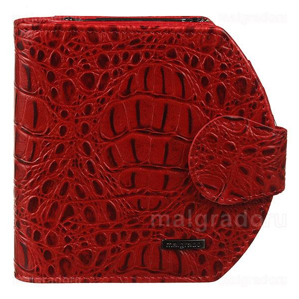 Кошелек женский Malgrado, цвет: красный. 41007-1B-5080141007-1B-50801# RedЛаконичный женский кошелек Malgrado выполнен из натуральной высококачественной кожи и декорирован тиснением под рептилию. На лицевой стороне изделие дополнено небольшой металлической пластиной с гравировкой Malgrado. Кошелек разделен на два отсека. В первом отсеке, закрывающемся хлястиком на застежку-кнопку, расположены два отделения для купюр, три прорезных кармашка для визиток и пластиковых карт, потайной карман. Изюминка модели - перекидной блок с прозрачным окошком из мягкого пластика, расположенный посередине. Второй отсек закрывается на замок-фермуар и представляет из себя кармашек для мелочи. Изделие упаковано в фирменную коробку. Сдержанность и продуманный дизайн портмоне не оставят равнодушной ни одну представительницу прекрасной половины человечества.