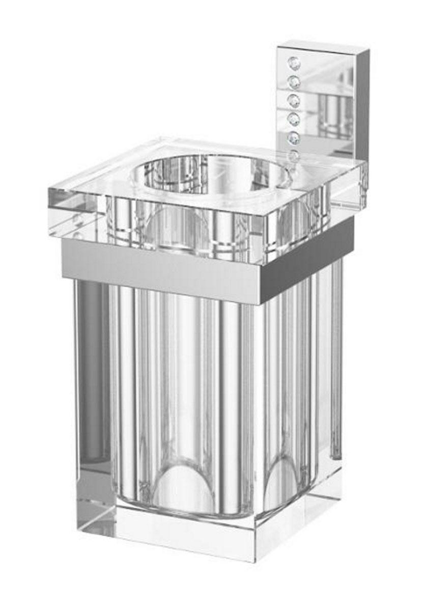 Держатель со стаканом для ванной комнаты Lineag Tiffany Lux, цвет: хром. TIF 904TIF 904В течение 20 лет компания Lineag разрабатывает и производит эксклюзивные аксессуары для ванной комнаты, используя современные технологии и высококачественные материалы. Каждый продукт Lineag произведен исключительно в Италии. Изысканный дизайн аксессуаров Lineag создает уникальную атмосферу уюта и роскоши в вашей ванной.