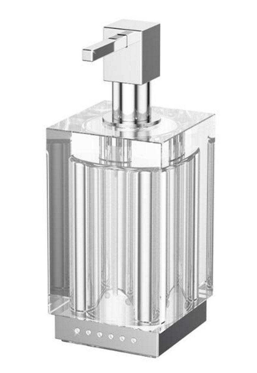 Емкость для жидкого мыла Lineag Tiffany Lux Un, настольная, цвет: хром. TIF 918TIF 918В течение 20 лет компания Lineag разрабатывает и производит эксклюзивные аксессуары для ванной комнаты, используя современные технологии и высококачественные материалы. Каждый продукт Lineag произведен исключительно в Италии. Изысканный дизайн аксессуаров Lineag создает уникальную атмосферу уюта и роскоши в вашей ванной.