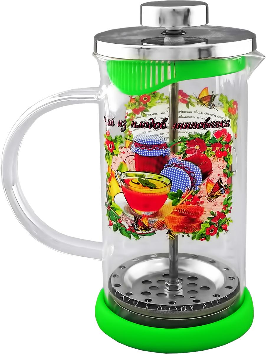 Френч-пресс LarangE Чай из плодов шиповника с силиконовой подставкой, 350 мл544210