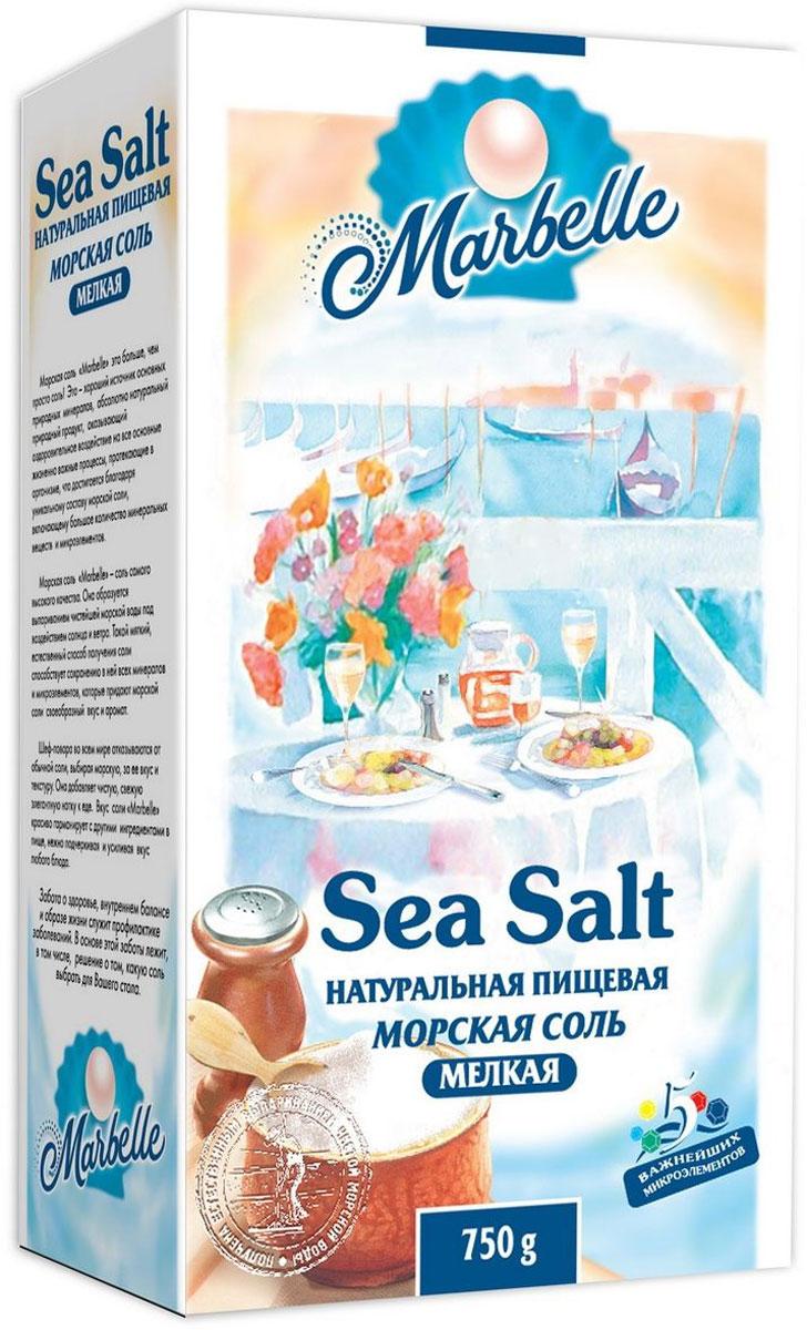 Marbelle соль морская пищевая мелкая, 750 г