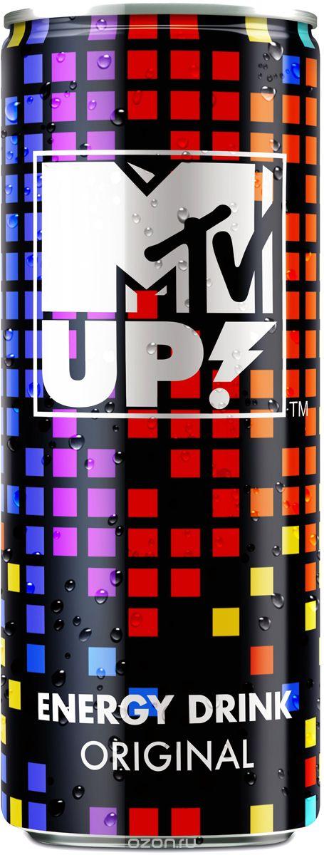 MTV UP! Original напиток безалкогольный тонизирующий энергетический газированный