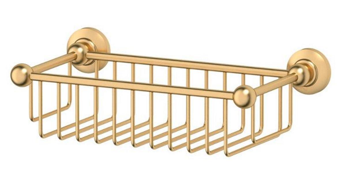 Полочка-решетка для ванной 3SC Stilmar, 31 см, цвет: матовое золото. STI 307STI 307Дизайн коллекций компании 3SC оригинален и узнаваем. Цель дизайнеров — находить равновесие между эстетикой и функциональностью. Это обдуманная четкая философия, которая проходит через все процессы производства мастерской региона Тоскана.Многолетний опыт, воплощение социальных и культурных традиций, а также постоянный поиск новых решений?– все это сконцентрировано в коллекциях 3SC. Особенное внимание уделяется декоративной отделке изделий, которая выполнена умелыми руками настоящих итальянских мастеров. Разнообразие стилей позволяет удовлетворить различные вкусы клиента от «классики» до «хай-тек», давая возможность гармонично сочетать аксессуары с зеркалами и освещением.