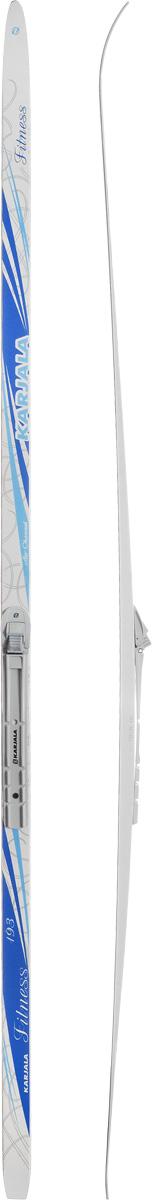 Лыжи беговые Karjala Fitness Wax, с креплением NNN, цвет: белый, голубой, серый, рост 193 см43431_р.193Беговые лыжи Karjala Fitness Wax предназначены для фитнеса и прогулочного катания. Технология CAP позволяет увеличить прочность лыж, их долговечность и надежность. Обеспечивает большую жесткость на скручивание и облегченный вес. Сердечник изготовлен из дерева. Скользящая поверхность - экструдированый полиэтилен низкого давления ПЭНД, обладающий высокой степенью защиты от царапин и вмятин. Крепления изготовлены из морозоустойчивого пластика и стали. Имеют автоматическое пристегивание. Флексор жесткости заменяем. Две направляющие. Геометрия: 46-46-46. Рост: 193 см.