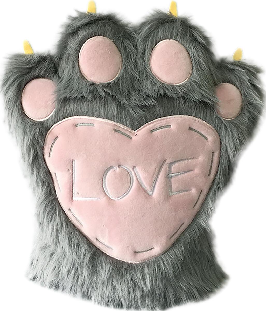 Gulliver Мягкая игрушка Валентинка пушистая лапа цвет серый40-DN16-0147-2