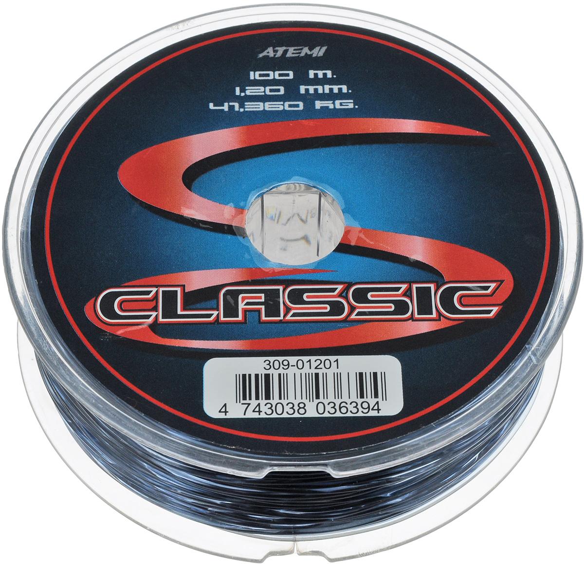 Леска Atemi Classic Line, 100 м, 1,2 мм, 41,36 кг309-01201Леска Atemi Classic Line изготовлена из 100% нейлона. Новая молекулярная структура изделия отличается повышенной сопротивляемостью к разрыву, но при этом леска способна и растягиваться.