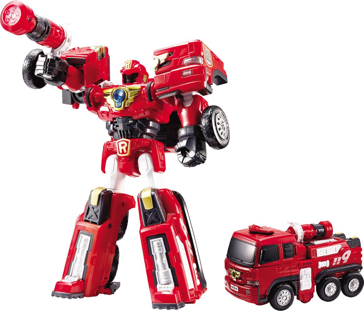 Tobot Трансформер Пожарная R301016Трансформер RESCUE TOBOT R, мега пистолет, 2 ключа-токена, наклейки