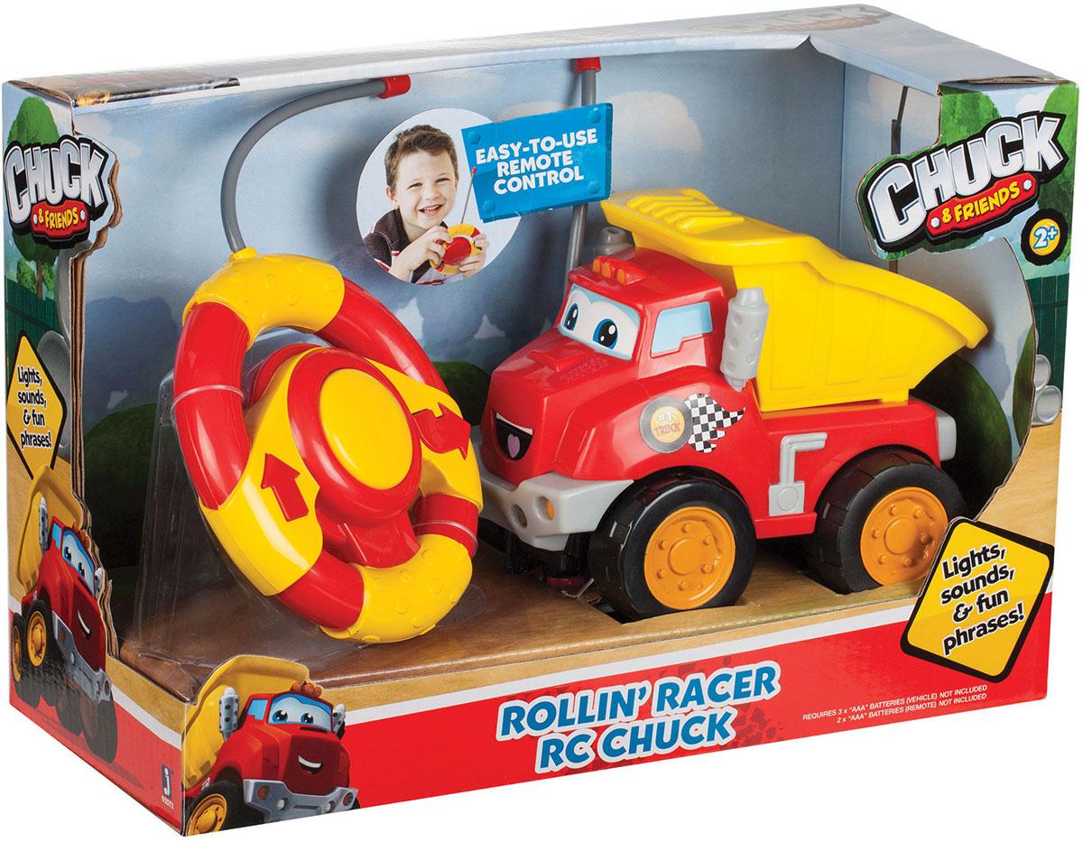 Chuck & Friends Машинка радиоуправляемая 9257192571Машинка CHUCK & FRIENDS на р/у. Пульт выполнен в форме руля. Световые и звуковые эффекты. Требуются батарейки АААх5.