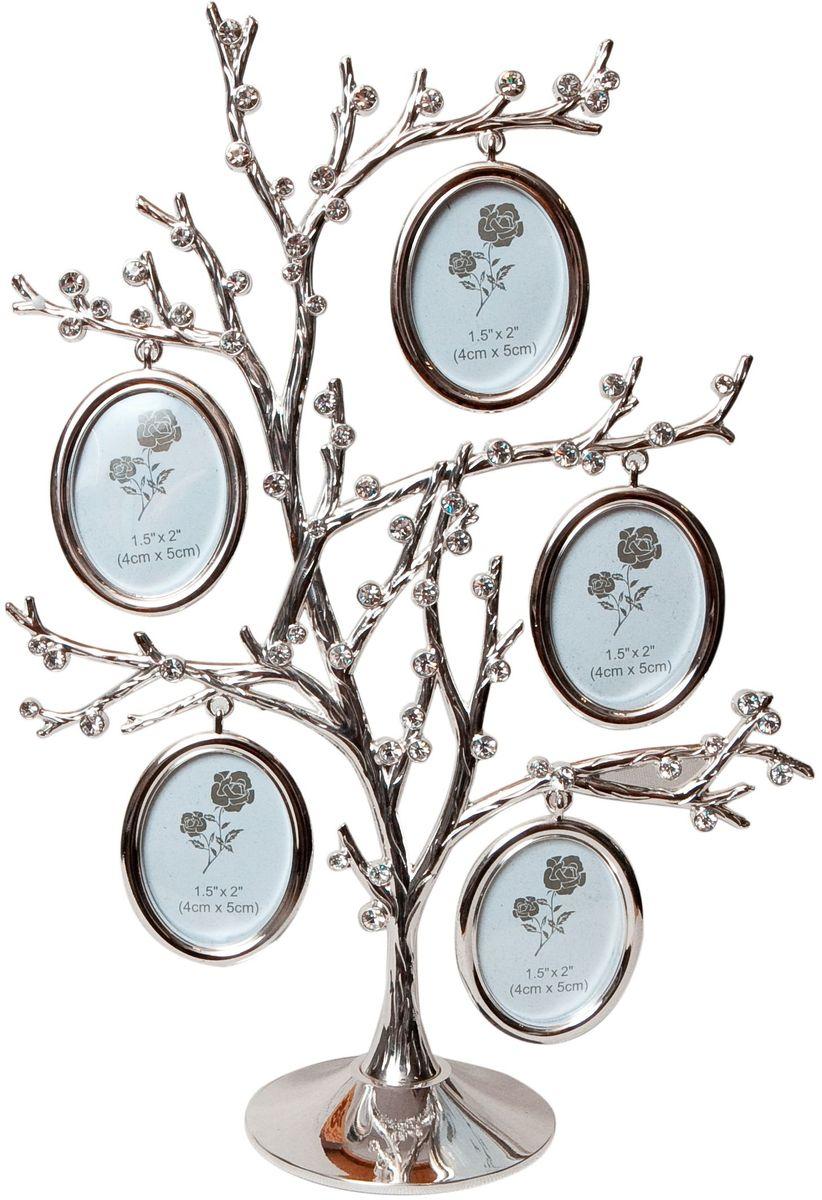 Фоторамка декоративная Platinum Дерево, на 5 фото, высота 27 см. PF10324A5 фоторамок на дереве PF10324AРодословное дерево инкрустированное стразами с фото 4x5 см.