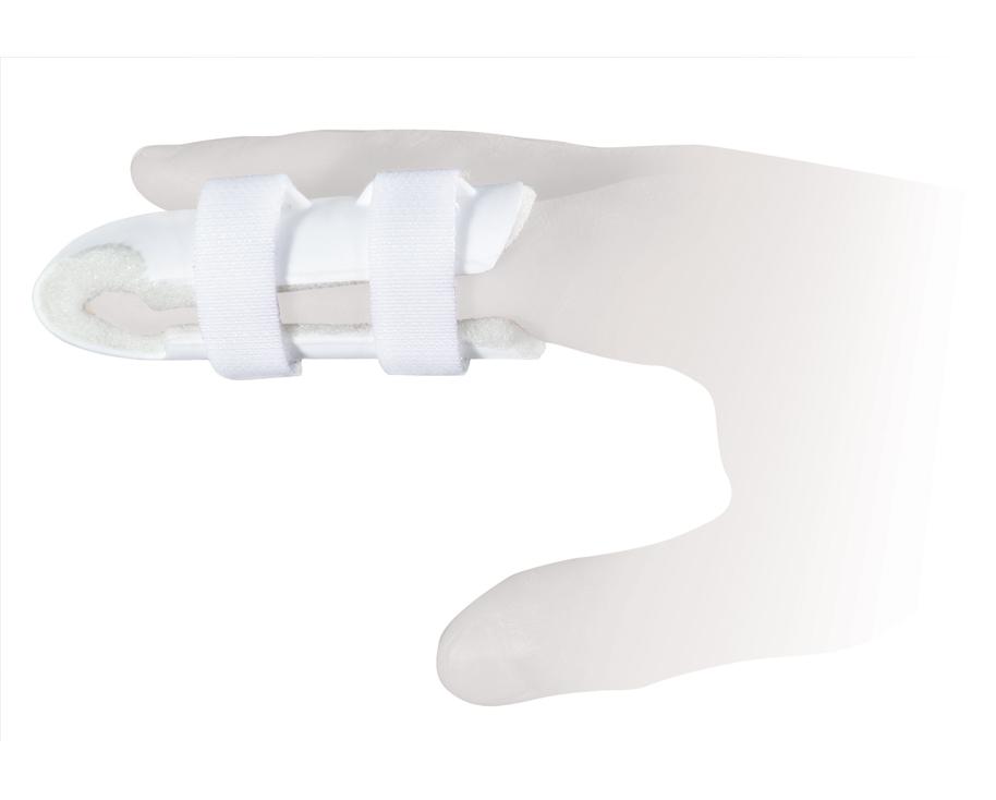 Ttoman Бандаж для фиксации пальца FS-004. Размер 3/LFS-004-D LОсобенности: пластик фиксирующая лента на застежке Велкро мягкая прокладка под палец размеры: S - 5,7 см, M - 6,7 см (один фиксатор «велкро»), L - 7,7 см, XL - 9 см (два фиксатор «велкро») Показания к применению: травмы фаланговых суставов пальца Состав: нейлон - 100% пластик