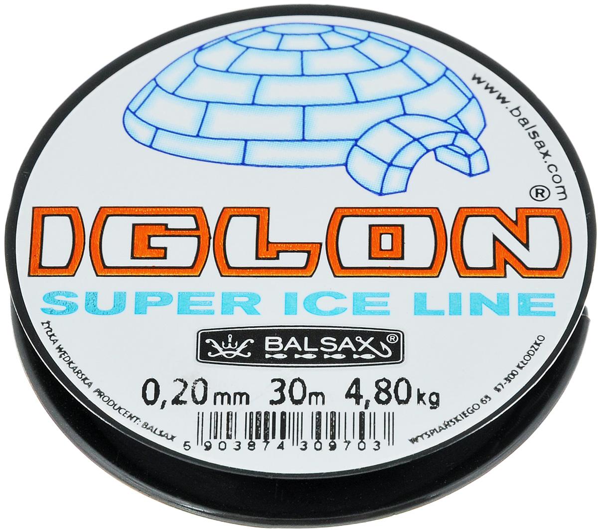 Леска зимняя Balsax Iglon, 30 м, 0,20 мм, 4,8 кг312-06020Леска зимняя Balsax Iglon изготовлена из 100% нейлона и очень хорошо выдерживает низкие температуры. Даже в самом холодном климате, при температуре вплоть до -40°C, она сохраняет свои свойства практически без изменений, в то время как традиционные лески становятся менее эластичными и теряют прочность. Поверхность лески обработана таким образом, что она не обмерзает и отлично подходит для подледного лова. Прочна в местах вязки узлов даже при минимальном диаметре.