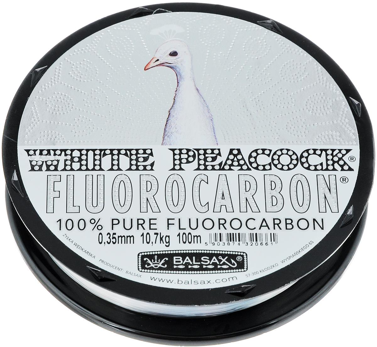 "Леска флюорокарбоновая Balsax ""White Peacock"", 100 м, 0,35 мм, 10,7 кг 314-08035"