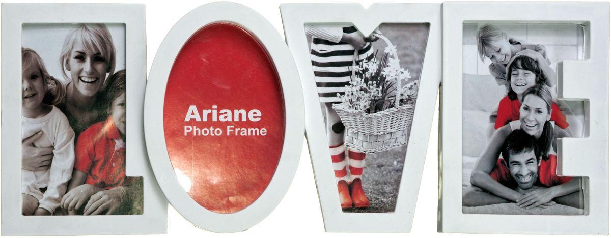 Коллаж Platinum Live, цвет: белый, 4 фоторамки. BIN-112099BIN-112099-White-БелыйПластиковый коллаж с 4 фото 10х15. Может крепиться к стене или стоять на полке.