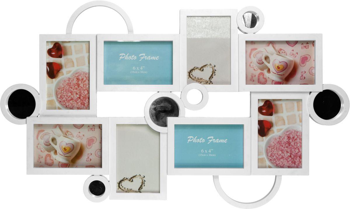Коллаж Platinum, цвет: белый, 8 фоторамок. BIN-112187BIN-112187-White-БелыйПластиковый коллаж с 8 фото 10х15 см.