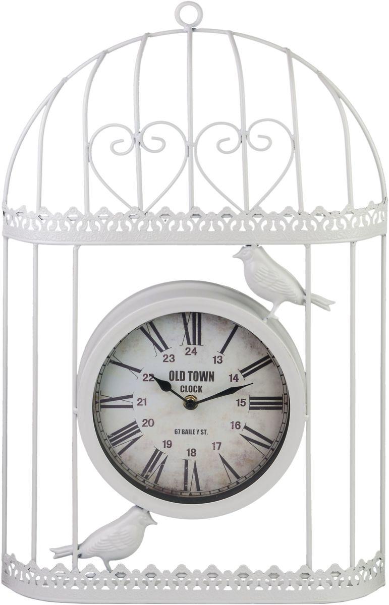 Часы настенные Miralight Клетка, цвет: белый. ML-1481ML-1481 White Часы настенные Клетка