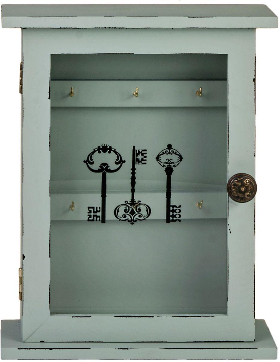 Ключница Miralight, цвет: белый, с дверцей. ML-4725ML-4725 Ключница со стеклянной дверцей