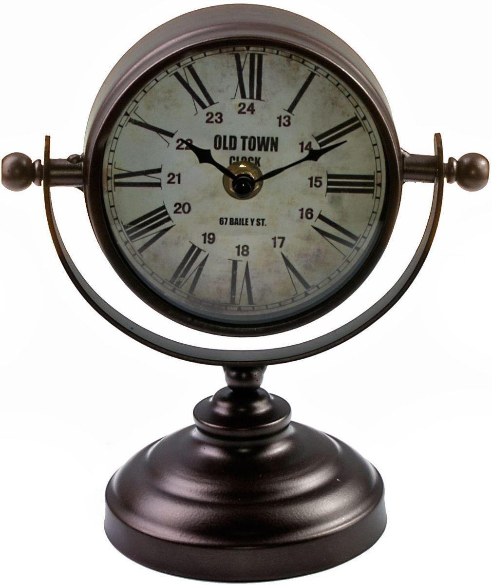 Часы настольные Miralight Copper, цвет: темная медь, на подставке. ML-5161ML-5161 Copper Часы настольные на подставке, тёмная медь