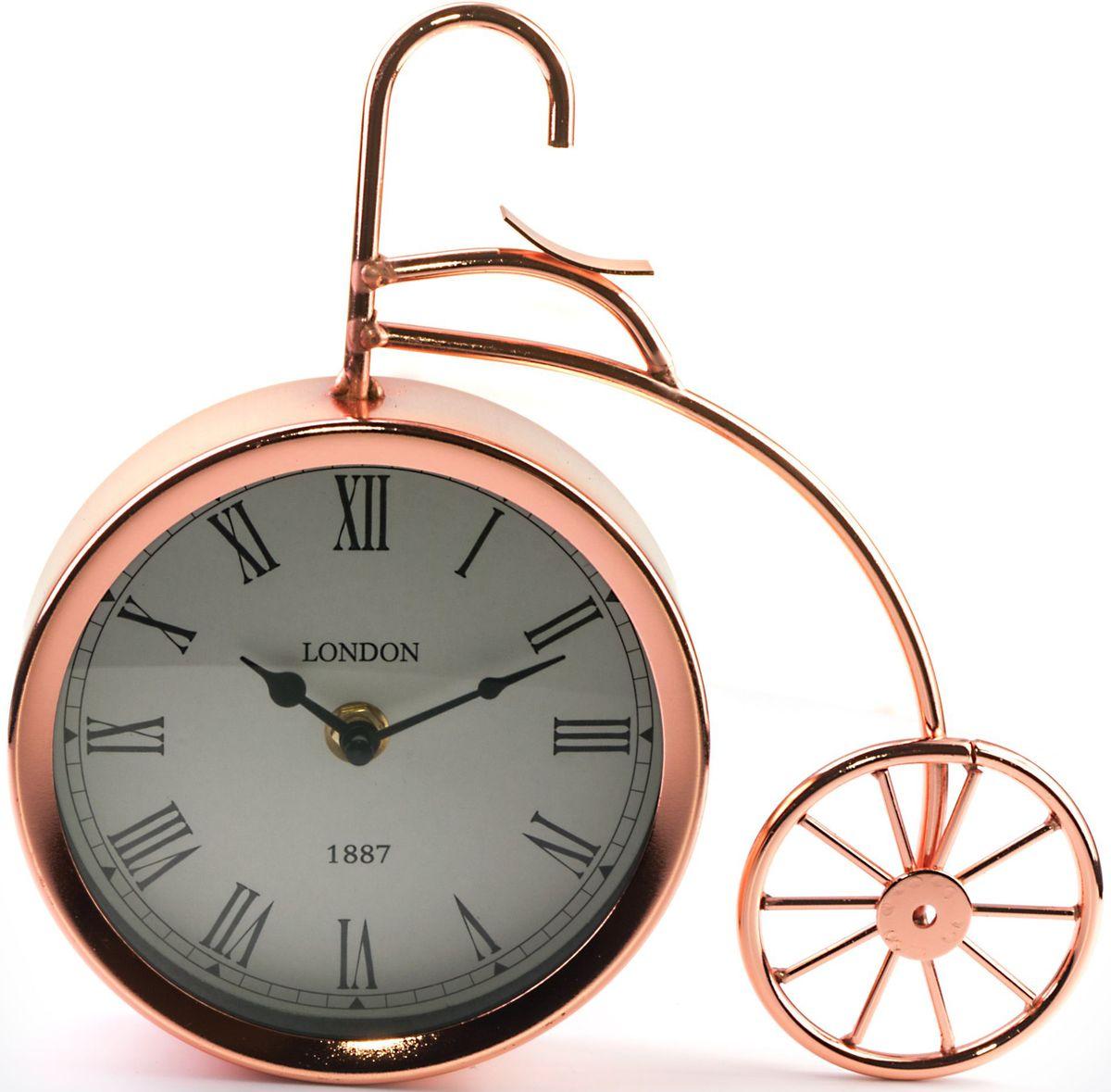 Часы настольные Miralight Велосипед, цвет: медный. ML-5379ML-5379 Copper Часы настольные Велосипед медный большой