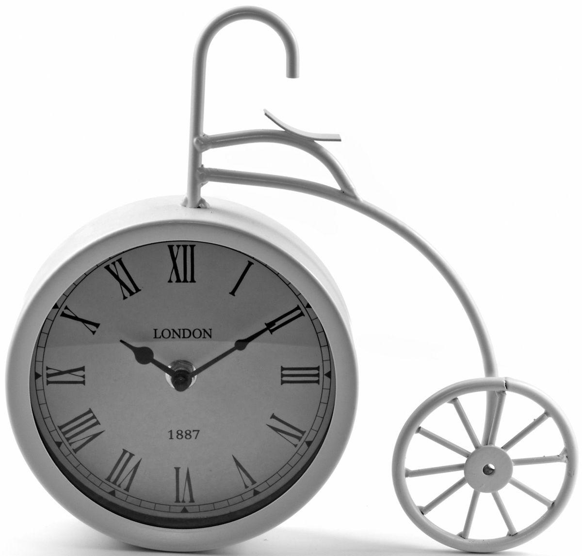 Часы настольные Miralight Велосипед, цвет: белый. ML-5379ML-5379 White Часы настольные Велосипед белый большой