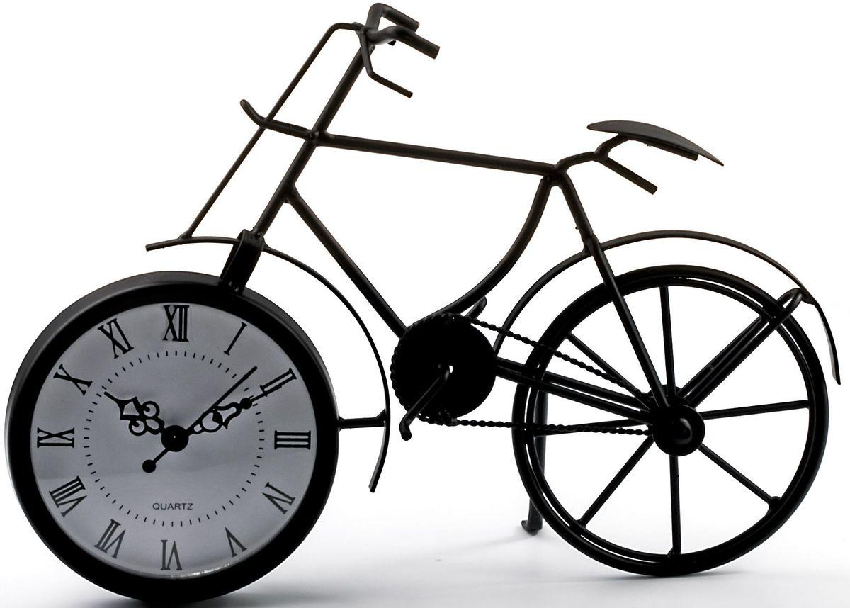 Часы настольные Miralight Велосипед, цвет: черный. ML-5388ML-5388 Dark black Часы настольные Велосипед чёрный