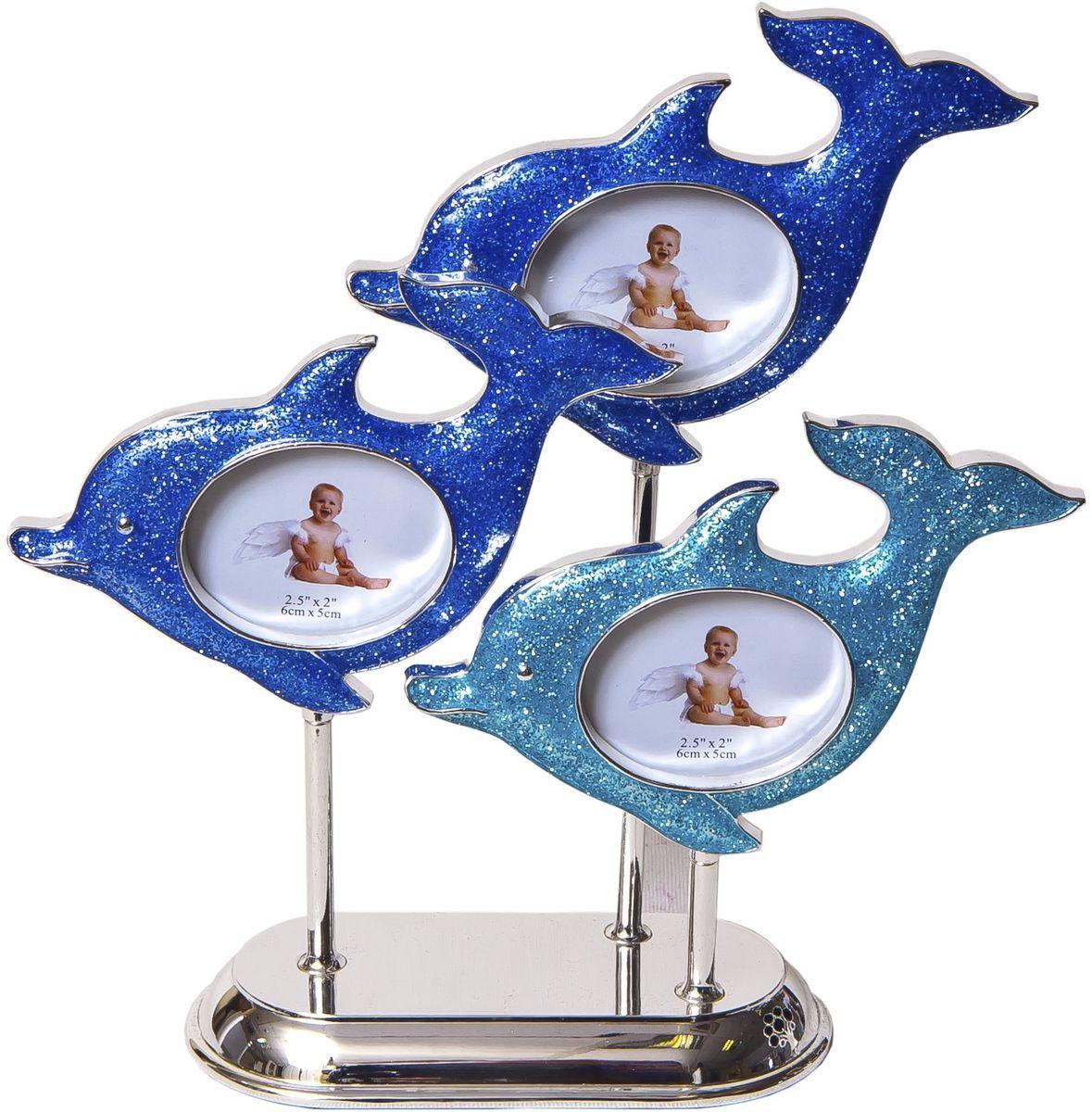 Фоторамка декоративная Platinum Дельфины, 3 фото, 6 х 5 см. PF10317PLATINUM PF10317