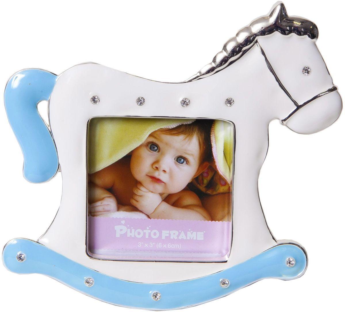 Фоторамка-мини декоративная Platinum Лошадка, 6 х 6 см. PF9729BPLATINUM PF9729B BLUE
