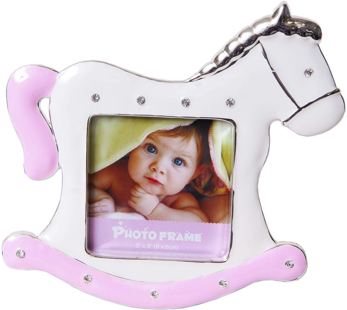 Фоторамка-мини декоративная Platinum Лошадка, 6 х 6 см. PF9729PPLATINUM PF9729P PINK