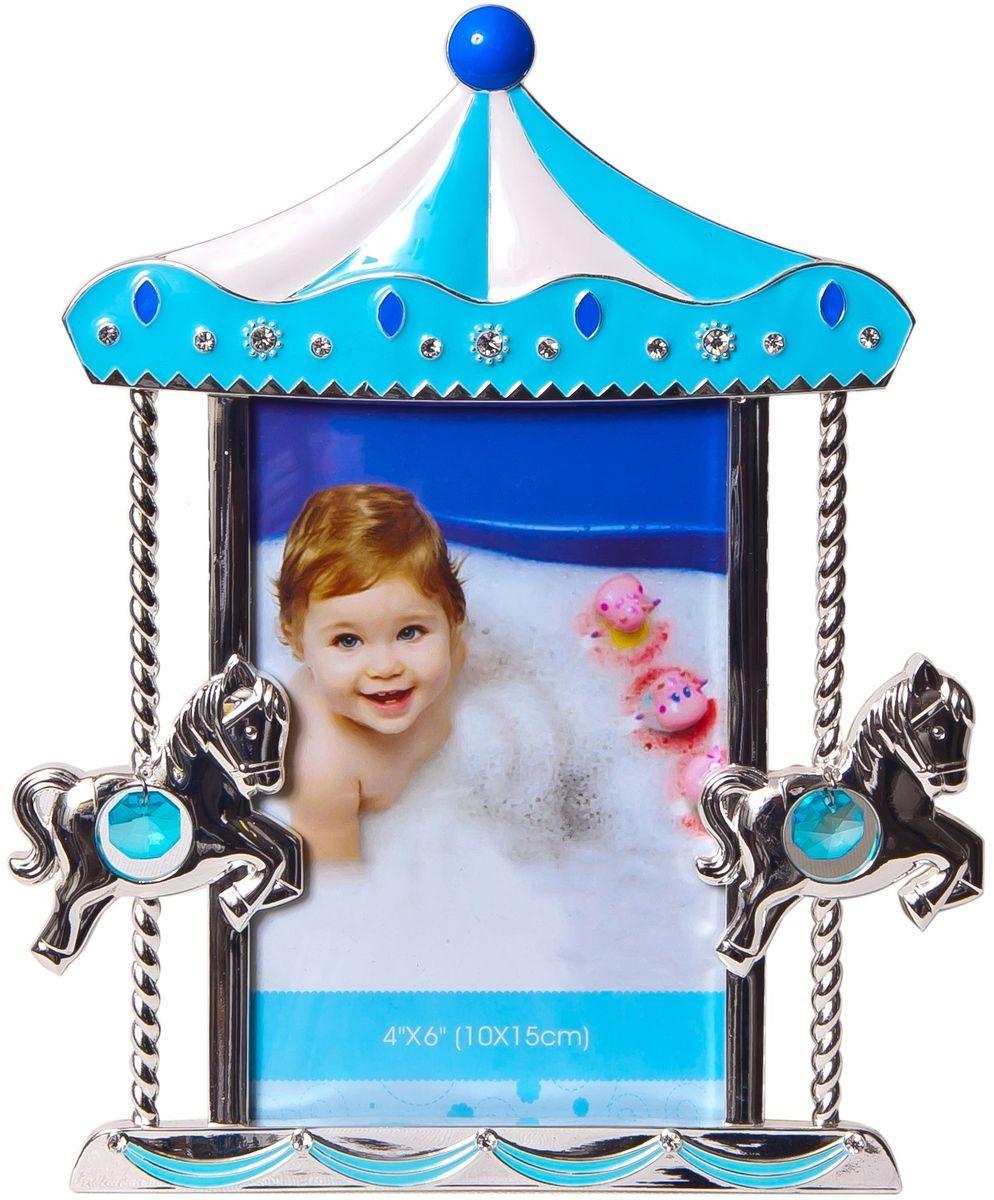 Фоторамка декоративная Platinum Карусель с лошадками, 10 х 15 см. PF9937BPLATINUM PF9937B BLUE