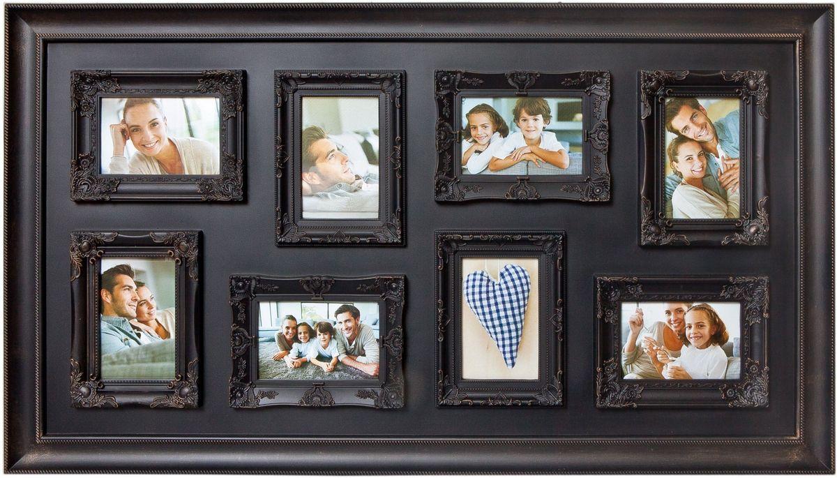 Коллаж Platinum, цвет: антик коричневый, 8 фоторамок. BIN-1122571PLATINUM BIN-1122571 Антик коричневый (Antique brown)Пластиковый коллаж с 8 фото 10х15.